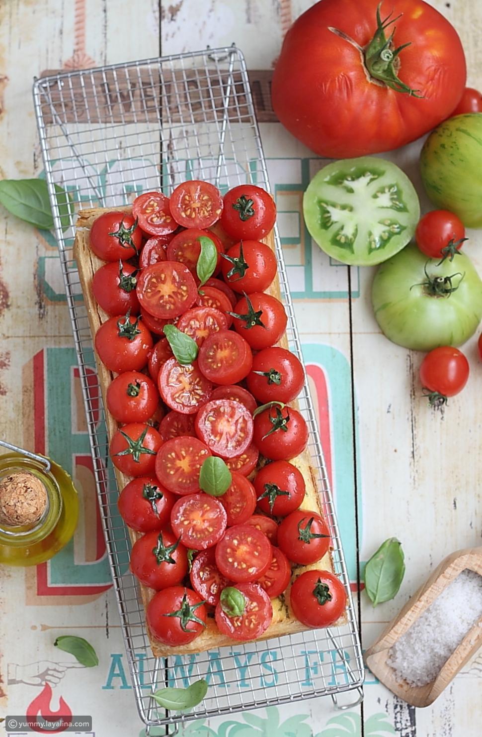 تارت الطماطم والموزاريلا