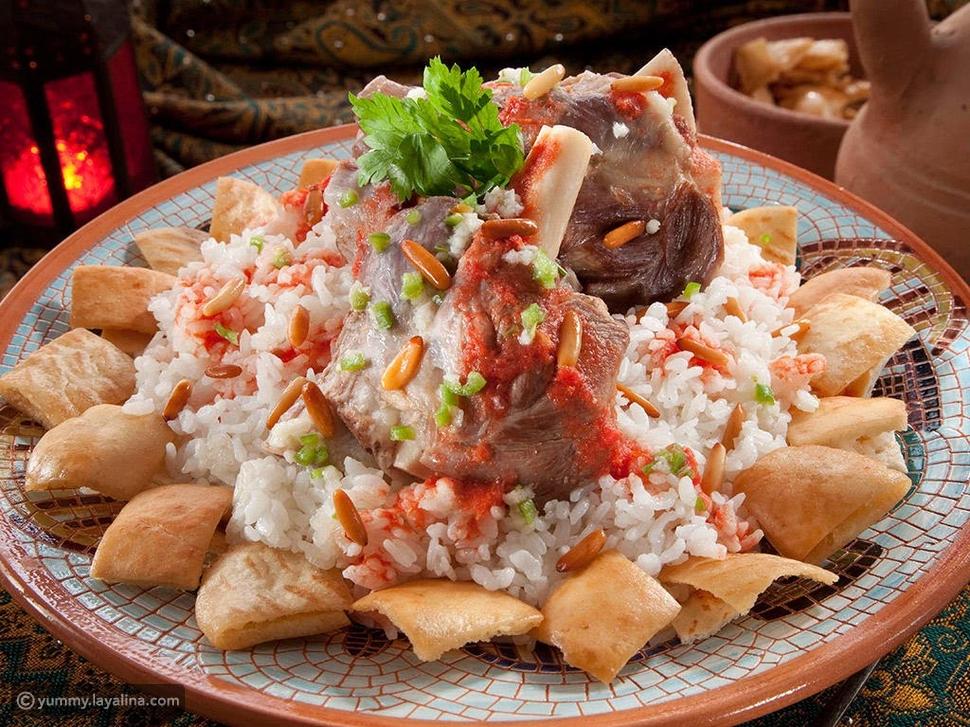 أطباق العيد: فتة اللحم الضاني